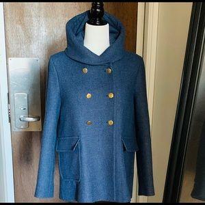 Zara Blue Short Pea Coat